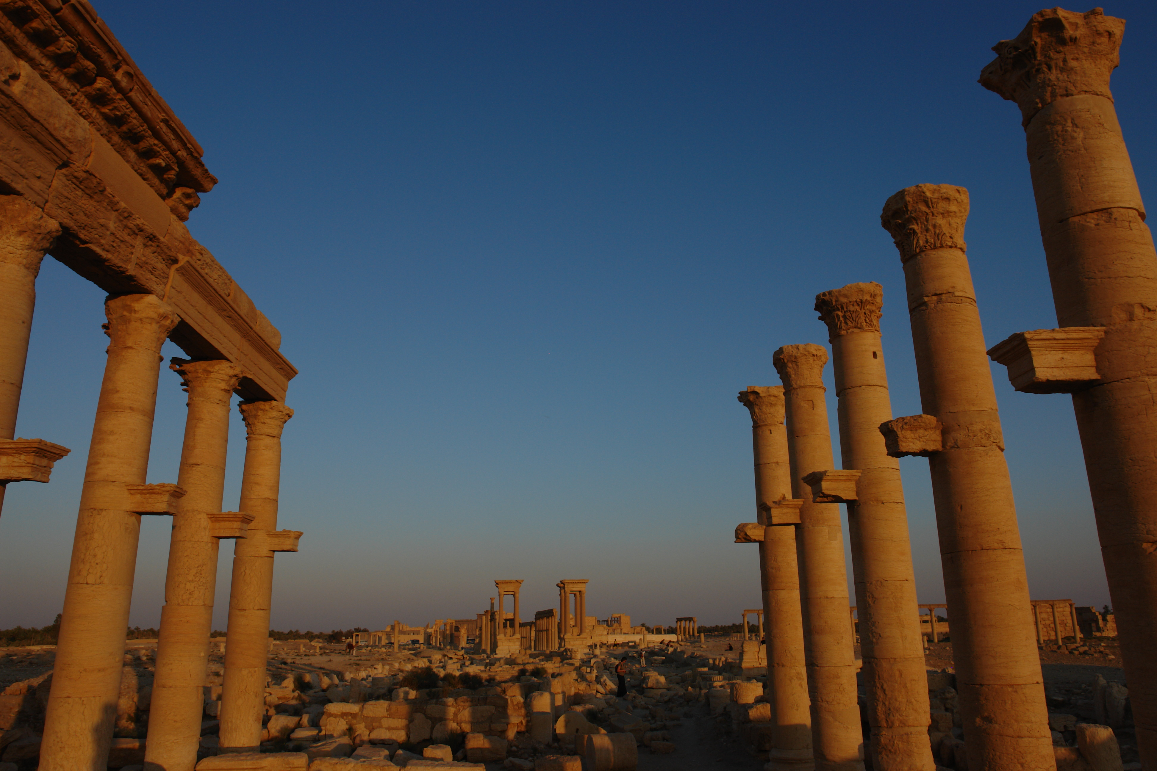 """""""Great Collanade at the Ancient City of Palmyra off the Baths of Diocletian"""", Syria 2008"""