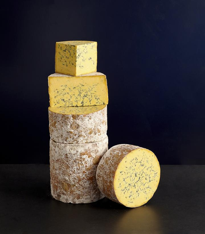 Shropshire Blue cheese from Neal's Yard Dairy.