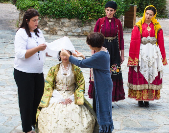 The brides from different regions of Greece